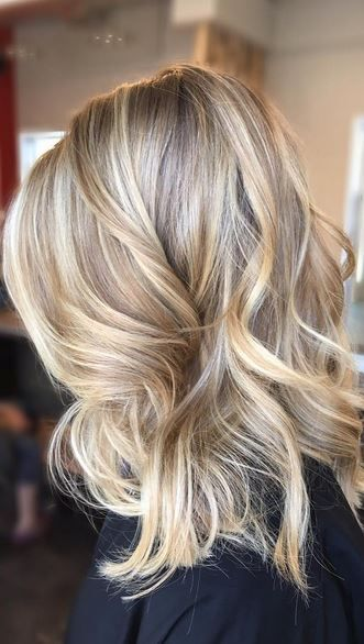 sandy blonde highlights