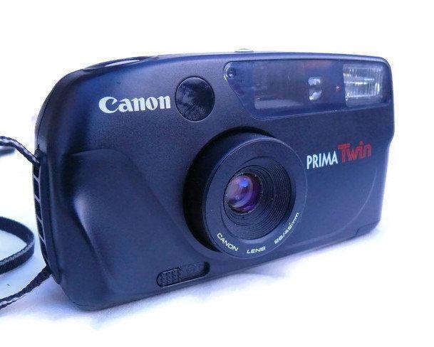 Canon Prima Twin, Autofocus Camera, Vintage Camera, 35mm Camera, Canon Camera, 35mm Film, Point And Shoot, 1990s Camera, Compact Camera by HarmlessBananasTribe on Etsy
