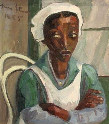 Cultured Art --- Irma Stern (South African artist, 1894-1966) Maid in Uniform 1955 - Pictify - your social art network