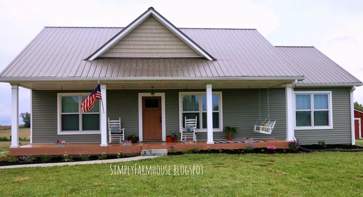 Adorable farmhouse plan simple open plan affordable 3 for Metal building farmhouse plans