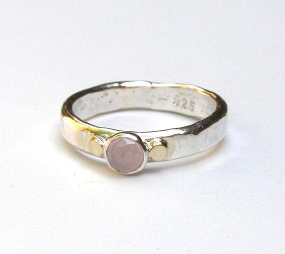 empilage bague pierre prcieuse rose quartz rose bague par oritnaar - 45 Ans De Mariage Pierre Precieuse