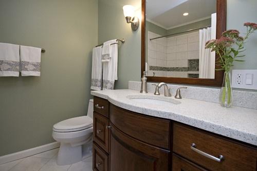 amusing sage green white bathroom   Pin by Leanne Parker on Home Decor   Pinterest