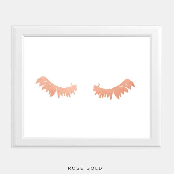 Rose Gold Foil Art Print - perfect for the beauty lover or to add a feminine punch to your gallery wall!