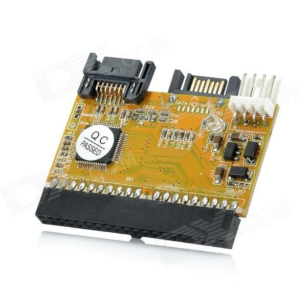 RXD-696 1 IDE to 2 SATA Adapter. Model: RXD-696 - Color: Yellow - Supports ATA 66 / 100 / 133 - Compliant with serial ATA 2.0 / 1.0 specification, transmission speed up to 150MB/s - No driver needed - One 40-pin IDE port - One serial ATA port - One 4-pin power connector - Supports 500GB HDD or above - Supports Windows 98SE / 2000 / ME / XP & NT 4.0 & Linux / Vista - Packing List: - 1 x IDE to 2 SATA - 1 x Adapter cable (14cm) - 1 x SATA cable (42cm). Tags: #Computers/Tablets #Networking…