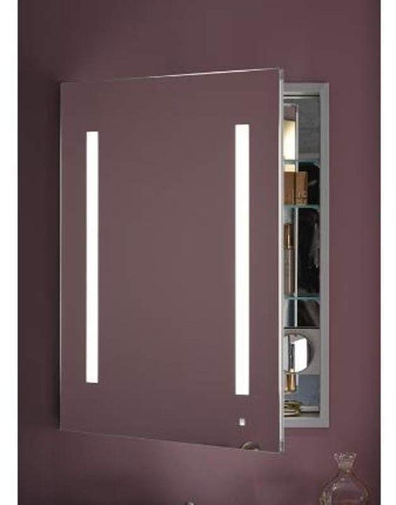 Robern Ac2430d4p1l Aio 24 X 30 X 4 Single Door Medicine Cabinet With Left Hin Mirrored
