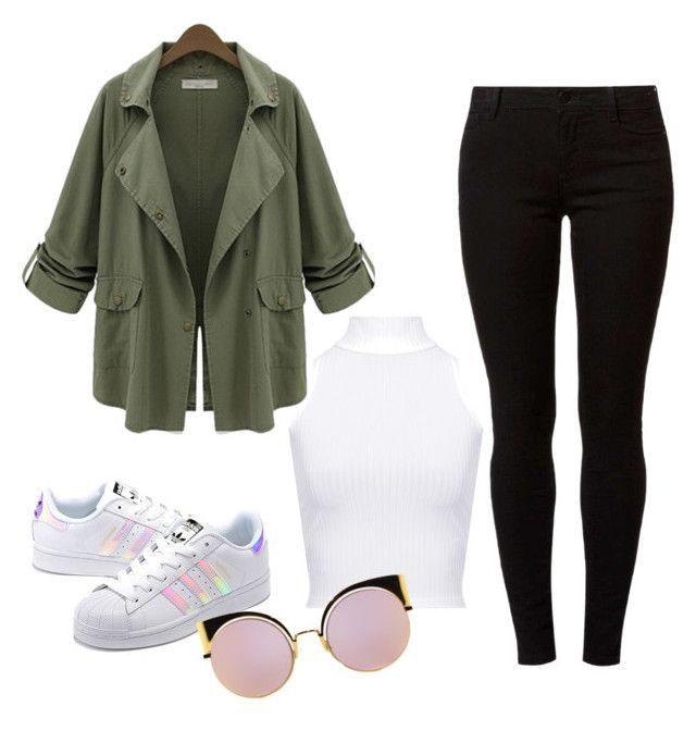 """Untitled #21"" by maffaldacunha on Polyvore featuring WearAll, Chicnova Fashion, Dorothy Perkins, adidas Originals and Fendi"