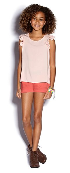 Junior Girls clothing, kids clothes, kids clothing | Forever 21 - I would want to accessories to make it a little more fashionable, but good base to start with.