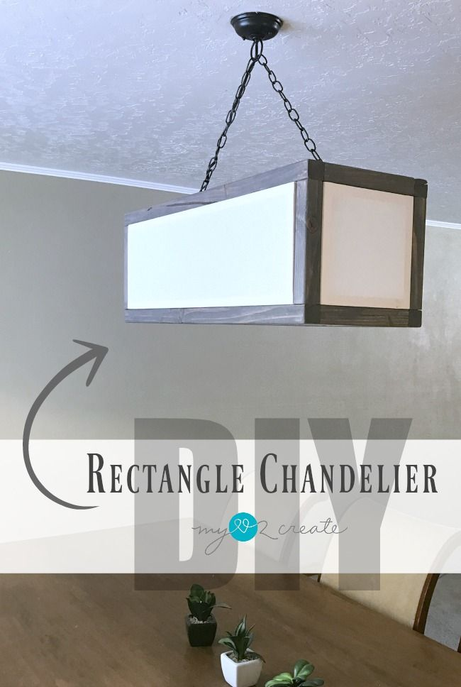 Great Build your own Rectangle Chandelier with linen inset shades to get that high end look for