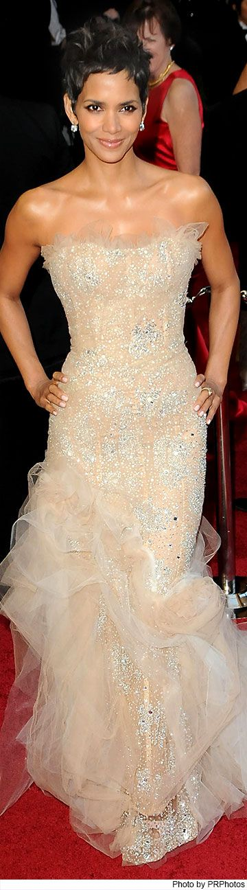 Halle Berry Wearing Marchesa Gown - 2011 Oscars