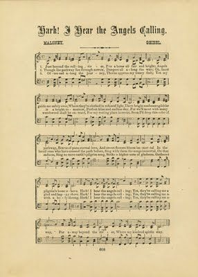 Free Vintage Clip Art - Angels & Sheet Music - The Graphics Fairy