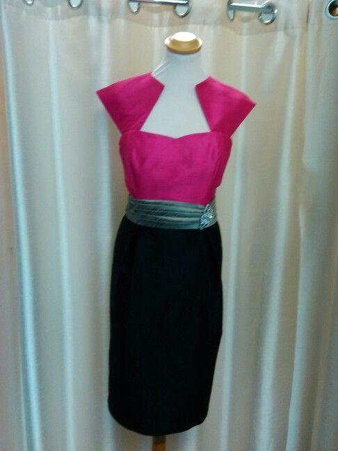 Black/fuschia dress made by Geraldine Omeara Designs 087 4156965
