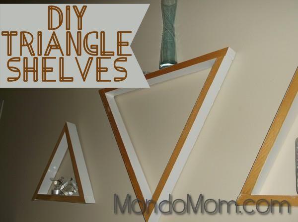 DIY decorative wooden triangle shelves   Diy   Pinterest
