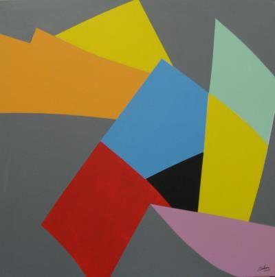 Marcel Barbeau - Aux flammes de l'aube : Acrylique sur toile - 2009