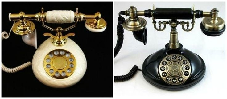 Two Novelty Telephones Vintage Telephone Reproduction Elegant Phone Collectibles | eBay