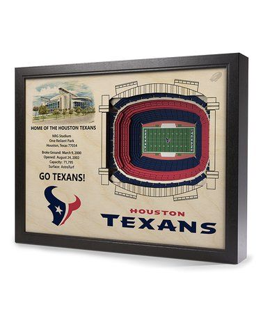 Loving this Houston Texans NRG Stadium Wall Art on #zulily! #zulilyfinds