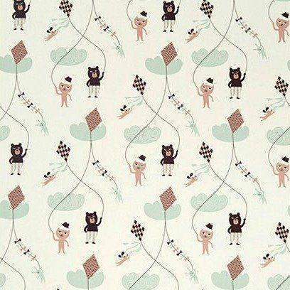 Ferm Living Behang Kite roze papier 10.05x0.53cm