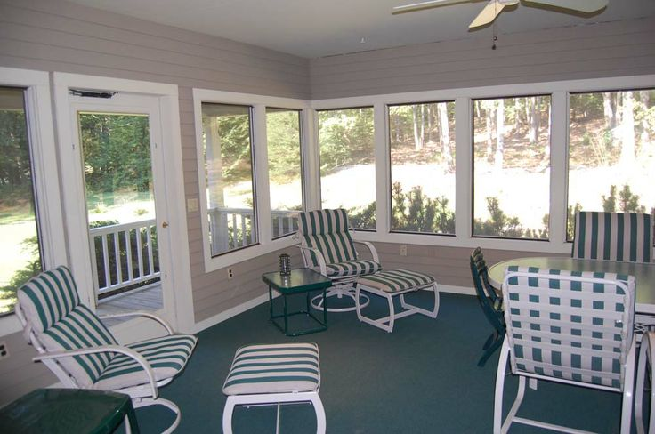 Half Wall Screened Porches Executive Home For Sale By