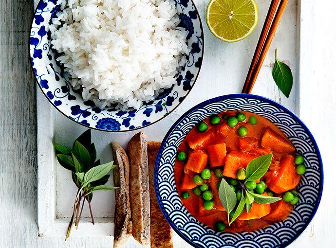 Thaise curry met erwten en basilicum - Jongens van de Klei