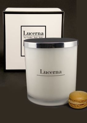 Lucerna Toffee Macaron Large Tumbler Candle