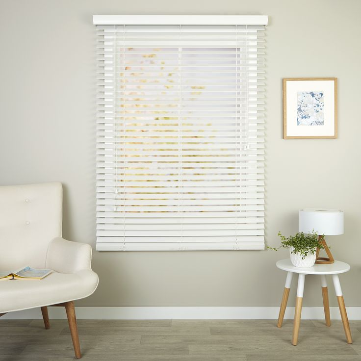 Richmond White - Readymade Ecowood Venetian Blind - Curtain Studio buy curtains online