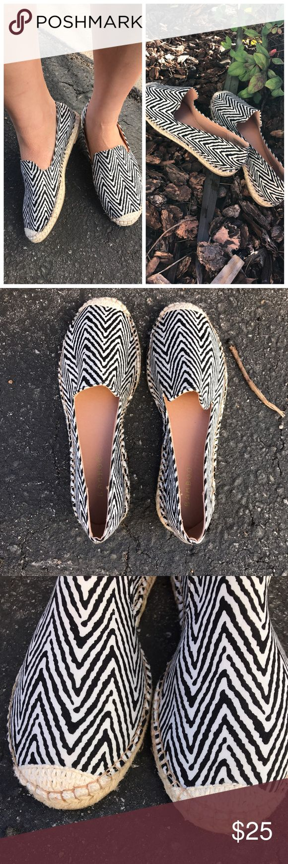 Zig zag Chevron espadrille shoes Brand new without box Shoes Espadrilles