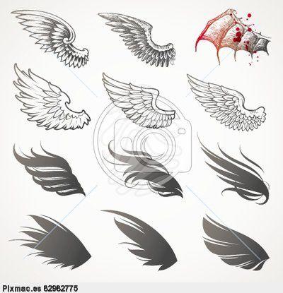alas de angeles y demonios dibujos - Buscar con Google