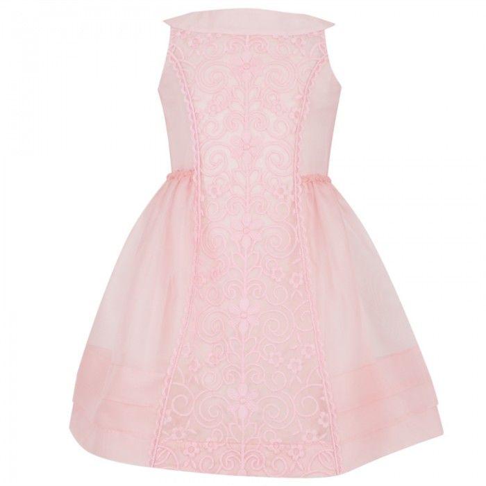 I Pinco Pallino Flower Embroidery Dress