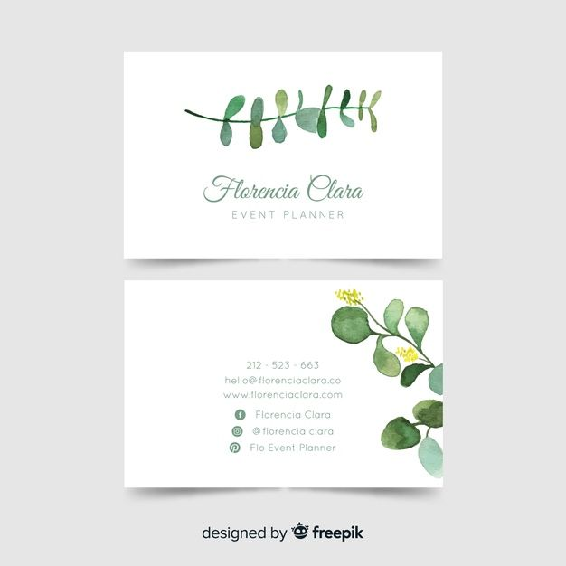 Download Watercolor Floral Business Card Template For Free Business Cards Watercolor Business Cards Creative Watercolor Business Cards