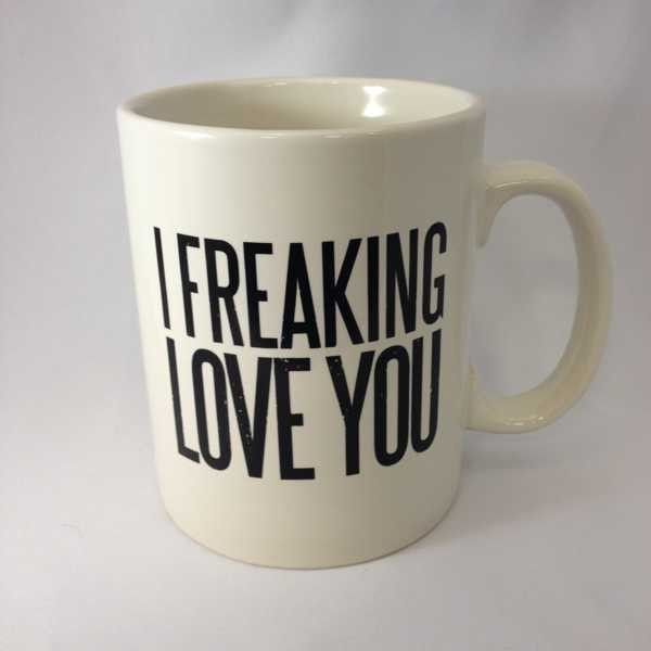 Freaking love someone? Show them with this freaking cool mug. https://highcountrygifts.com/home-decor/frames-and-signs/i-freaking-love-you-white-mug.html