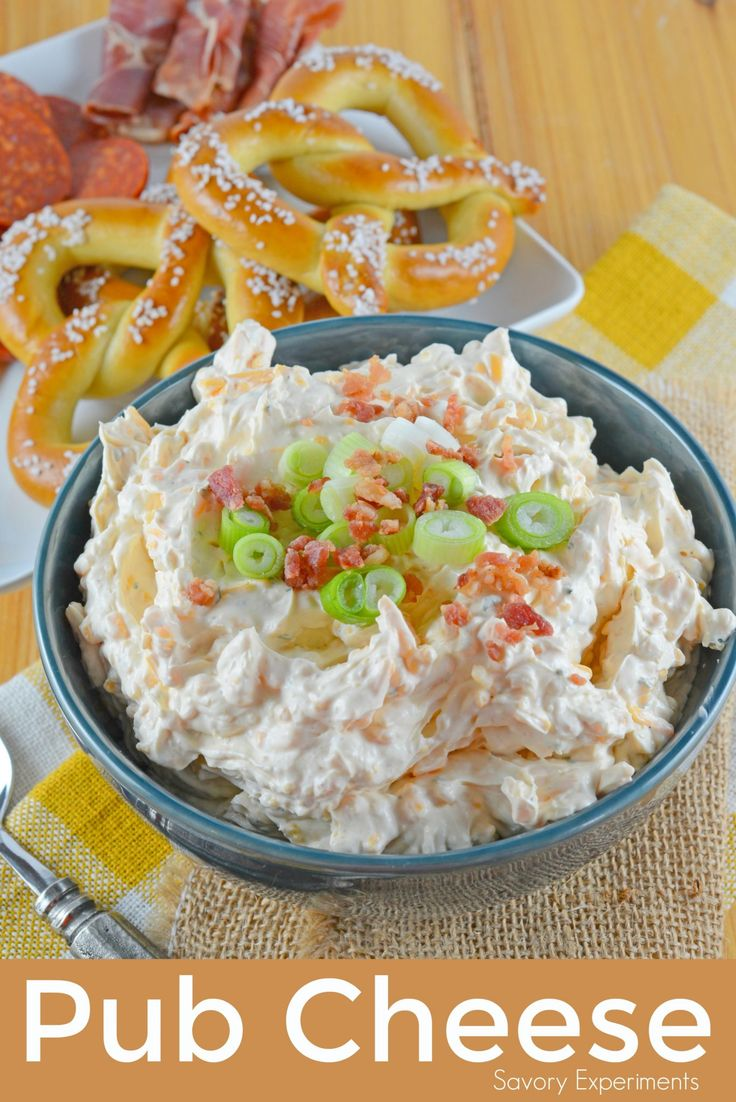 Easy Pub Cheese Recipe is a spreadable, zesty, no-cook appetizer in 5 just minutes! Serve with soft pretzels, carrot or celery sticks or chips!