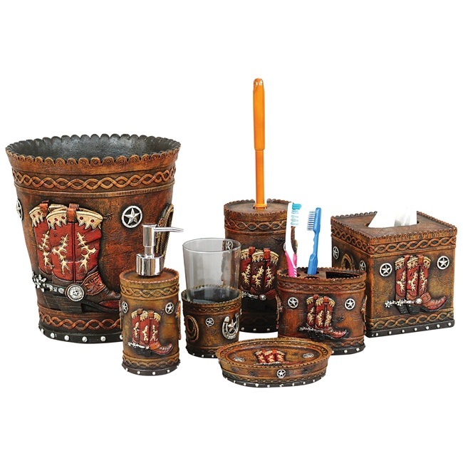 Boots And Stars Bath Accessories Home Decor In Western Style Pint
