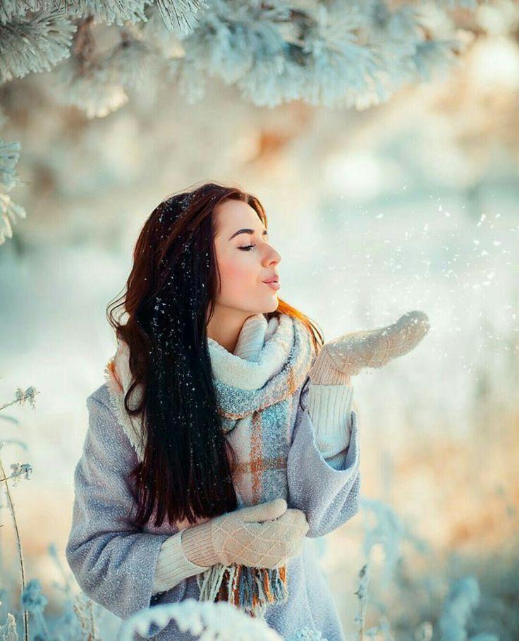 стоит позы для зимней фотосессии со снегом картинки привет оригинальное