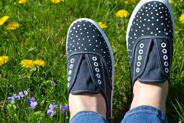 Polka Dot Sneaks | 33 DIY Shoe Hacks