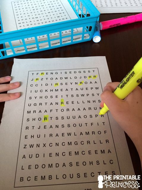 Using a word search book (from the dollar store) to practice letters. Cheap and easy center!
