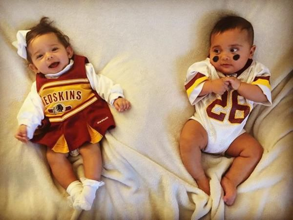 Luke and Leia are an adorable Lil' #Redskins pair! #HTTR