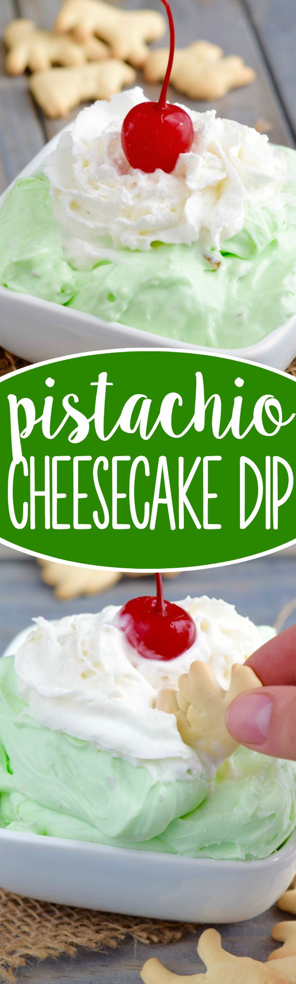 This Pistachio Cheesecake Dip comes together in minutes and is irresistible!