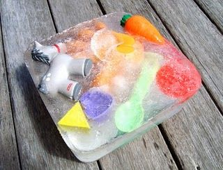 Ice toy block for summer!: Preschool Activities, Dogs Toys, Ice Blocks, Ice Cubes, For Kids, Ice Ice Baby, Children Toys, Teaching Kids, Hot Summer