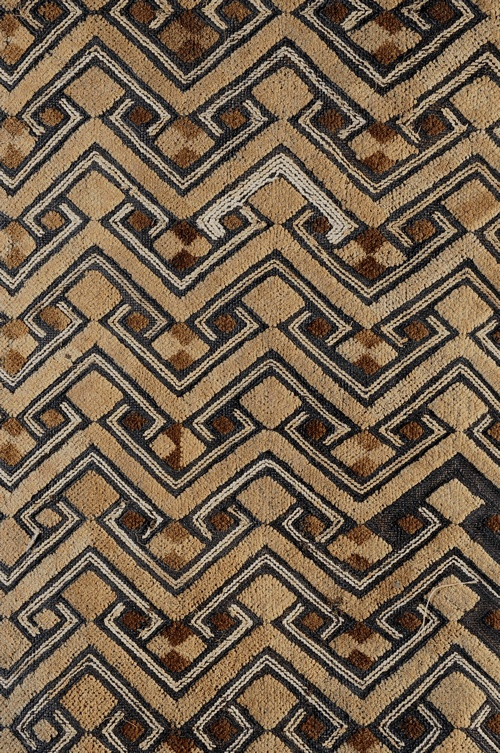 Africa | Details from a Raffia cloth from the Shoowa people of DR Congo | ca. 1960.