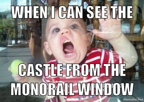 """""""When I see the castle from the monorail window"""" Disney addict problems. Former Cast Member love."""