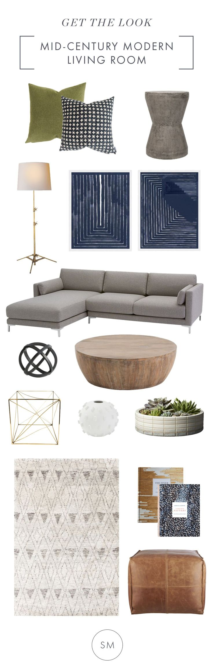 Get a Mid-Century Modern Living Room - STUDIO MCGEE