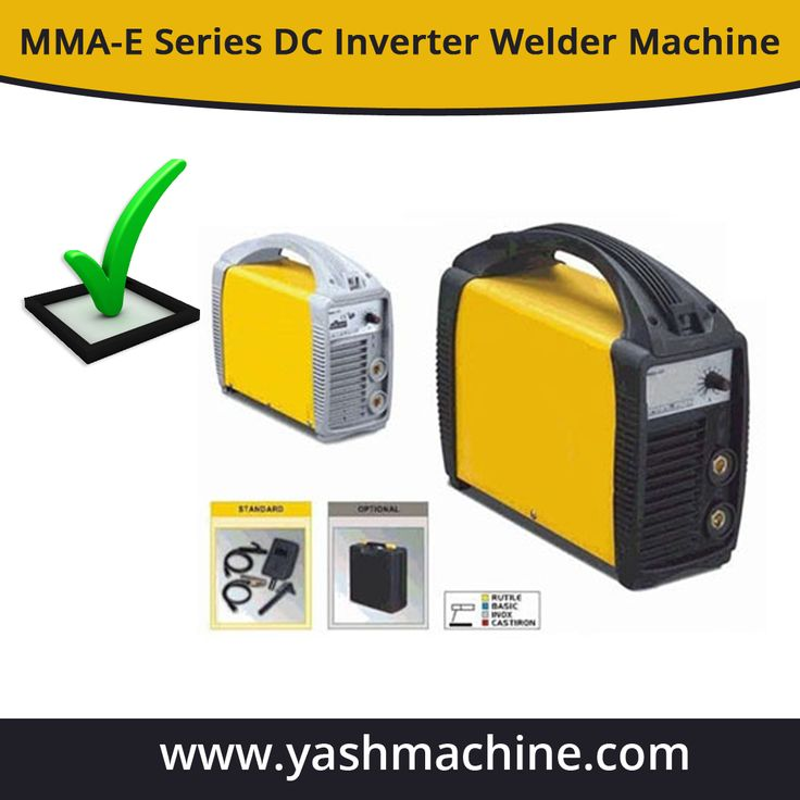 MMA-E Series DC Inverter Welder Machine is portable and durable in quality. It is very cost effective as well as efficient. Know the specifications of MMA-E Series DC Inverter Welder Machine at http://www.yashmachine.com/mma-e-series/.
