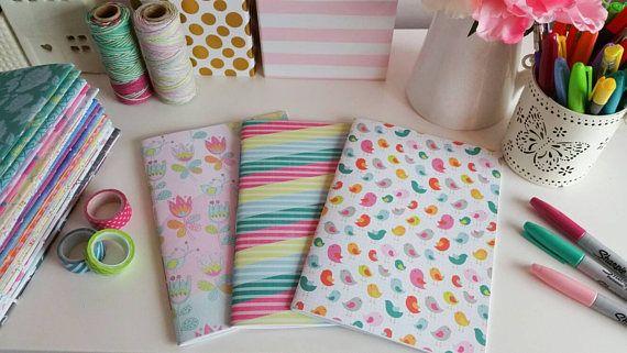 Lovely hand bound saddle stitch notebooks