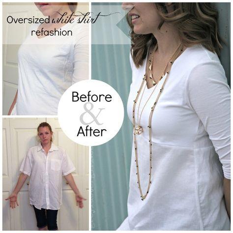 Surdimensionné chemise blanche réécrire