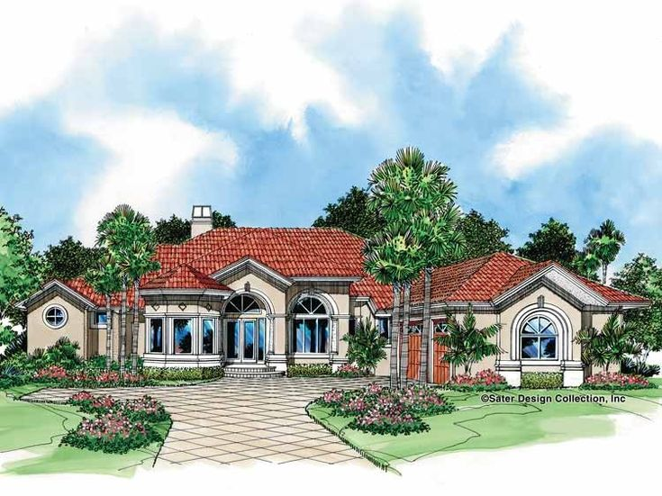 Mediterranean House Plan With 3301 Square Feet And 4 Bedroomss From Dream Home