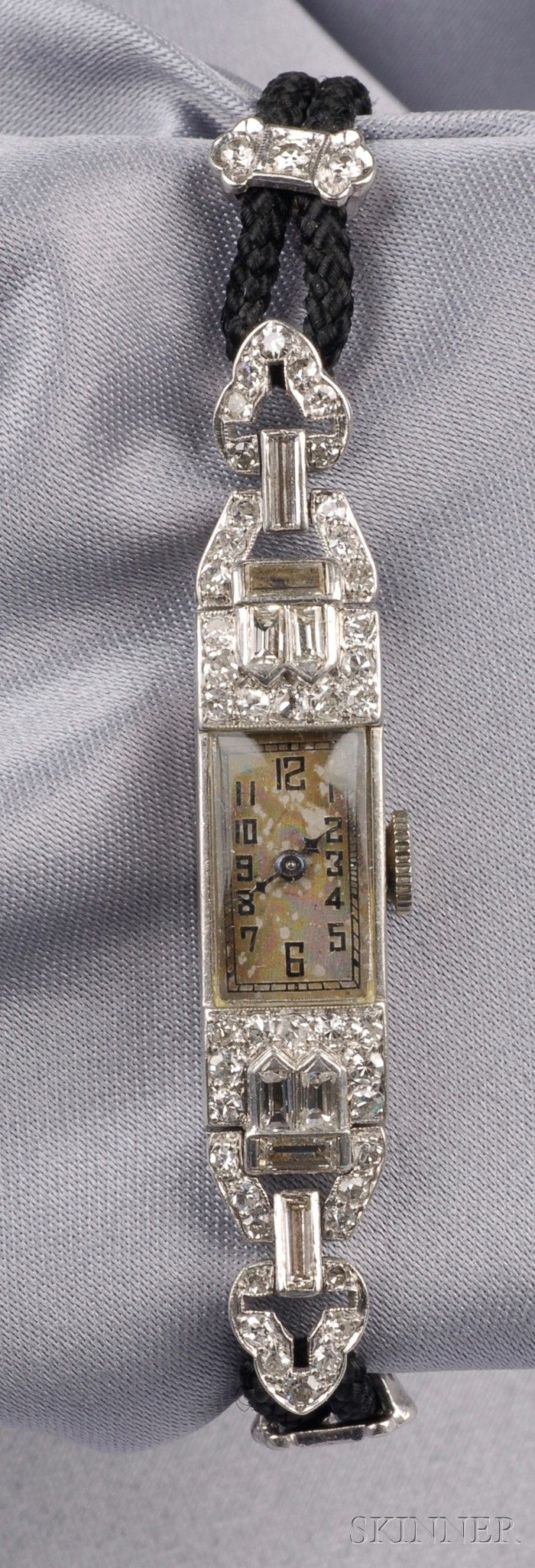 Art Deco Platinum and Diamond Wristwatch