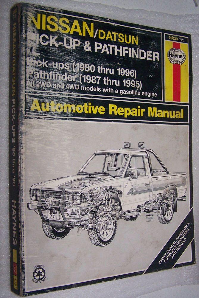 2001 nissan pathfinder repair manual