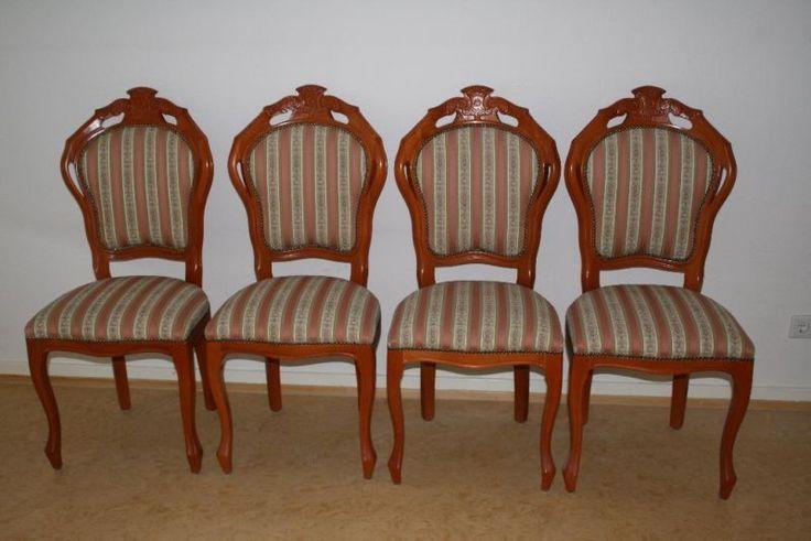 4 wunderschöne, hochwertige und neuwertige Esszimmerstühle , antik. Diese wundervollen Stühle sind eine Bereicherung für jedes Esszimmer. Je Stuhl 25 Euro, oder bei Komplettabnahme VHB Die Stühle müssen in 63303 Dreieich Sprendlingen abgeholt werden. Tel: 0177/6272829 oder 06103/62728