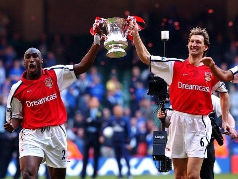 Tony Adams and Sol Campbell (FA Cup Arsenal 2002)