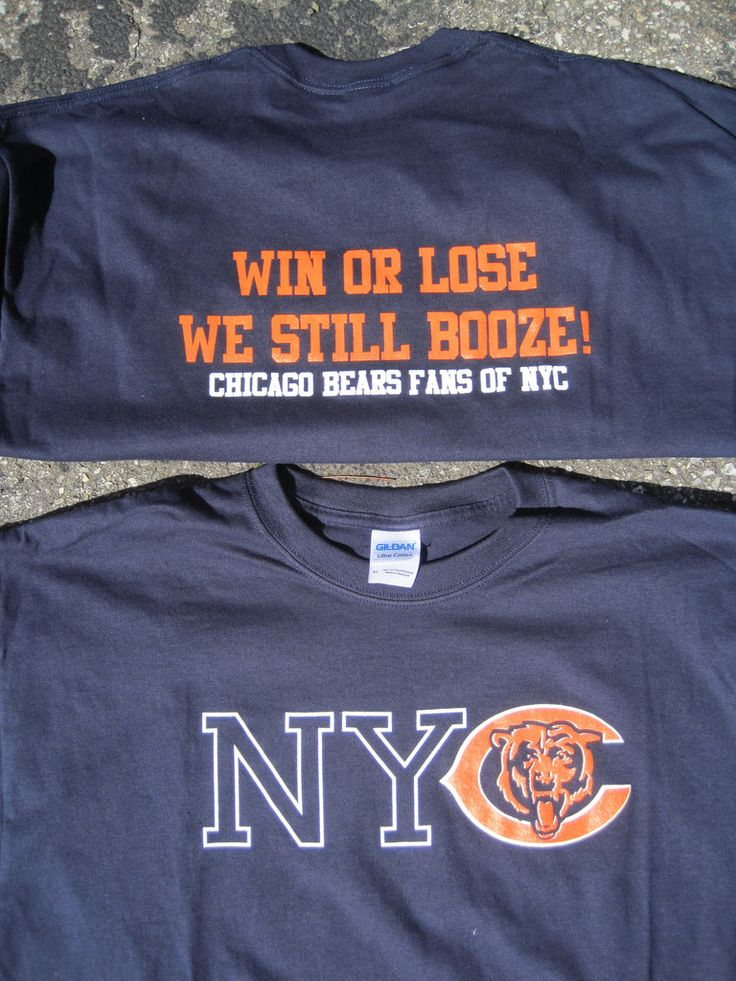 Bears Gear! NYC Chicago Bears T-Shirt, BEAR DOWN!