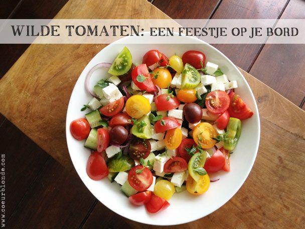 Recepten   Griekse salade met wilde tomaten #salad #recept #coeurblonde